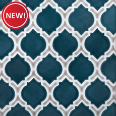 New! Mystic Pewter Marakesh Porcelain Mosaic