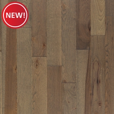 New! Stylish Gray Hickory Wire Brushed Solid Hardwood