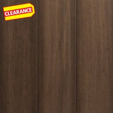 Clearance! Greige Hand Scraped Locking Engineered Stranded Bamboo