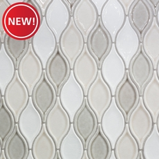 New! Gray Blend Tear Drop Porcelain Mosaic
