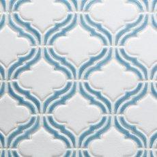 Sea Blue Frame Arabesque Porcelain Mosaic