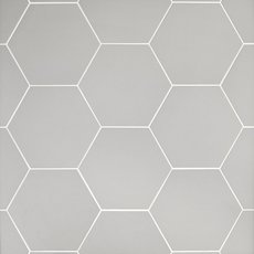Opal Gray Hexagon Porcelain Tile