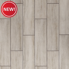 New! Carson Gray Wood Plank Ceramic Tile