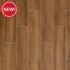 New! Carson Walnut Wood Plank Ceramic Tile