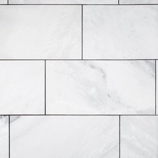 Mountain White Polished Marble Tile