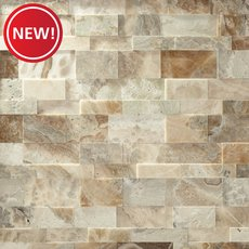 New! Storm Brushed Travertine Panel Ledger