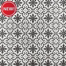 New! Equilibrio Black Encaustic Cement Tile