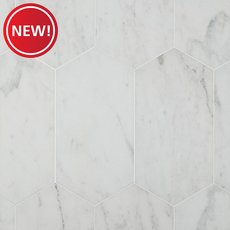 New! Bianco Blanco Oblong Marble Tile