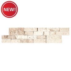 New! Roman Beige Split Face Travertine Panel Ledger