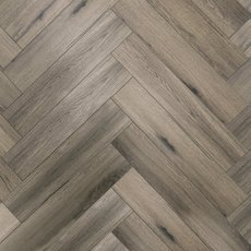 Tuscan Greige Rigid Core Vinyl Herringbone - Foam Back
