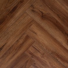 Auburn Oak Herringbone Luxury Vinyl Plank with Foam Back
