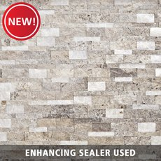 New! Triton Mix Split Face Travertine Panel Ledger