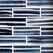 Nantucket Blue 2 x 6 in. Brick Glass Mosaic