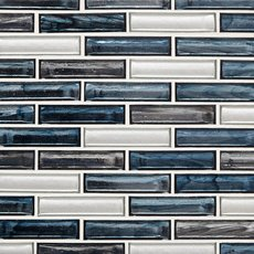 Celestial Shimmer 1 x 4 in. Brick Glass Mosaic