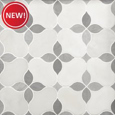 New! Iris Gris Polished Marble Mosaic