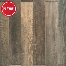 New! Woodhaven Brown Wood Plank Porcelain Tile