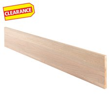Clearance! Red Oak Unfinished Stair Riser - 48 in.