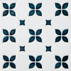 Iris Anchors Polished Porcelain Mosaic