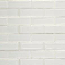 Silhouette Cotton Polished Ceramic Tile