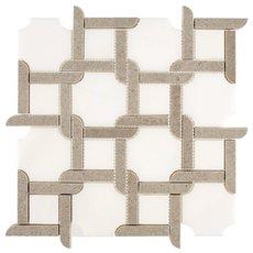 Valentino Azul Jigsaw Marble Mosaic