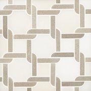 Taupe Lattice Polished Marble Mosaic
