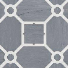 Janus Latin Blue and Thassos Waterjet Mosaic