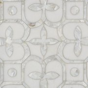Versailles Thassos and Mother of Pearl Mosaic