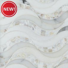 New! Hydra Calacatta Mother of Pearl and Thassos Mosaic