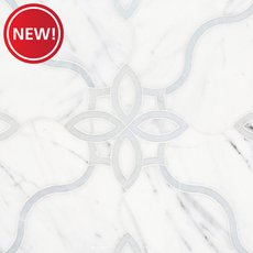 New! Freesia Statuario and Latin Blue Waterjet Mosaic
