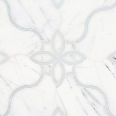 Freesia Statuario and Latin Blue Waterjet Mosaic