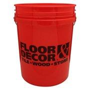 Floor and Decor Logo Red Bucket