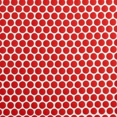 Red Hot Polished Porcelain Penny Mosaic