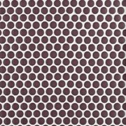 Plum Polished Porcelain Penny Mosaic