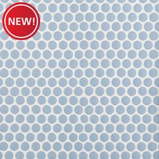 New! Blue Bliss Polished Porcelain Penny Mosaic