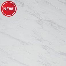 New! Volakas Marble Rigid Core Luxury Vinyl Tile - Foam Back
