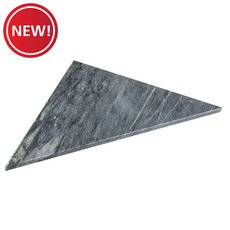 New! Gray Triangle 18 x 36 in. Marble Shower Bench