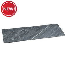 New! Gray Rectangle 17 x 49 in. Marble Shower Bench