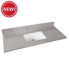 New! Bromely Gray Marble 49 in. Vanity Top