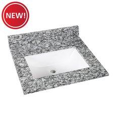 New! Kendall Gray Granite 25 in. Vanity Top