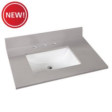 New! Bromely Gray Marble 31 in. Vanity Top