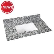 New! Kendall Gray Granite 37 in. Vanity Top
