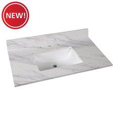 New! Volakas Engineered Marble 37 in. Vanity Top
