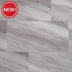 New! Silver Fantasy Gray Rigid Core Luxury Vinyl Tile - Foam Back