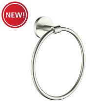 New! Brushed Nickel Towel Ring