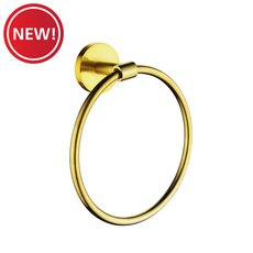New! Brushed Gold Towel Ring