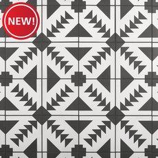 New! Apache Black and White Matte Porcelain Tile