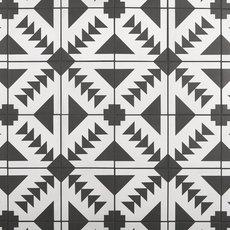 Apache Black and White Matte Porcelain Tile