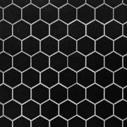 Matte Black Hexagon Porcelain Mosaic