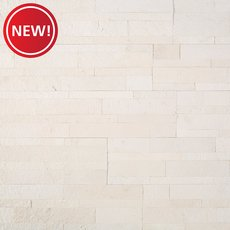 New! Colorado White Marble Peel and Stick Ledger Panel