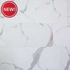 New! Carrara Marble Rigid Core Luxury Vinyl Plank - Cork Back
